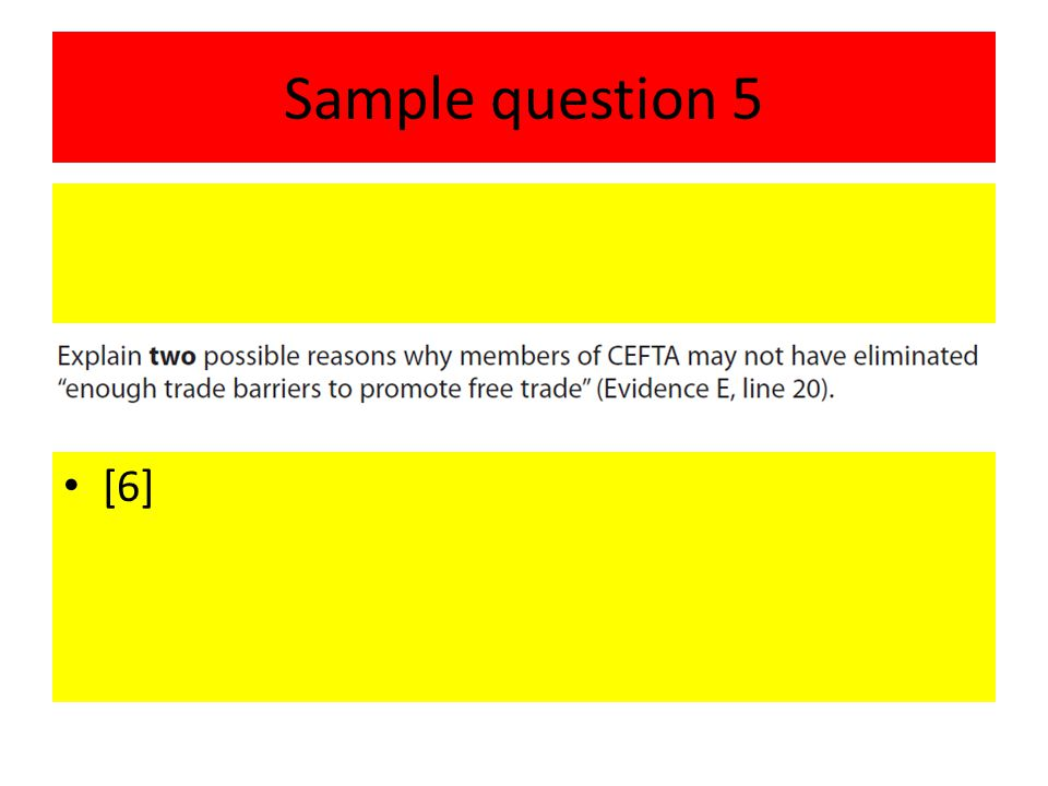 Sample question 5 [6]